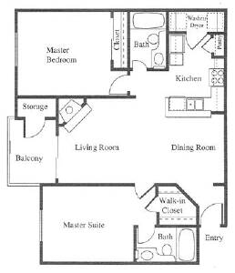 Example Of Square Footage 2 Bedroom Apartment. Average ...