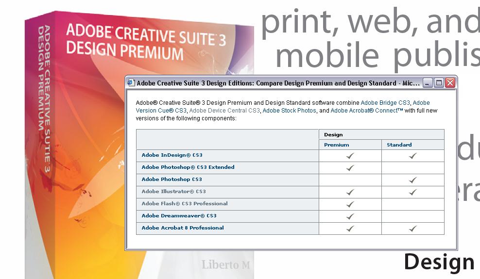Adobe 'Design' Editions - Summary & Comparison